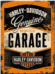 Harley Davidson Garage steel fridge magnet   (na)